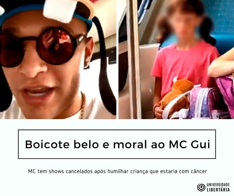 Boicote ao MC Gui, Belo e Moral
